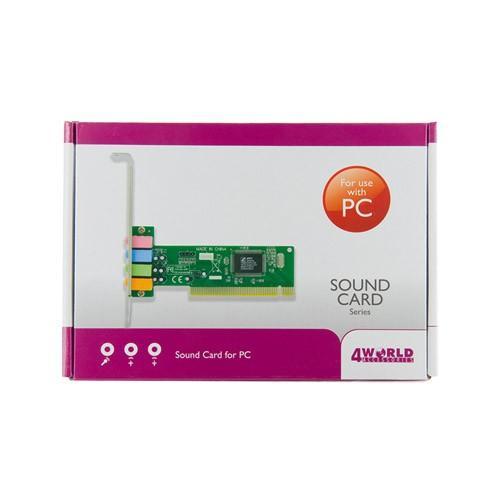 4World Karta dźwiękowa PCI 4kanały CMI8738