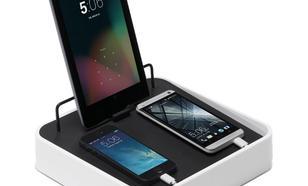 Bluelounge Sanctuary4 stacja dokująca z ładowarką USB do 4 urządzeń biała