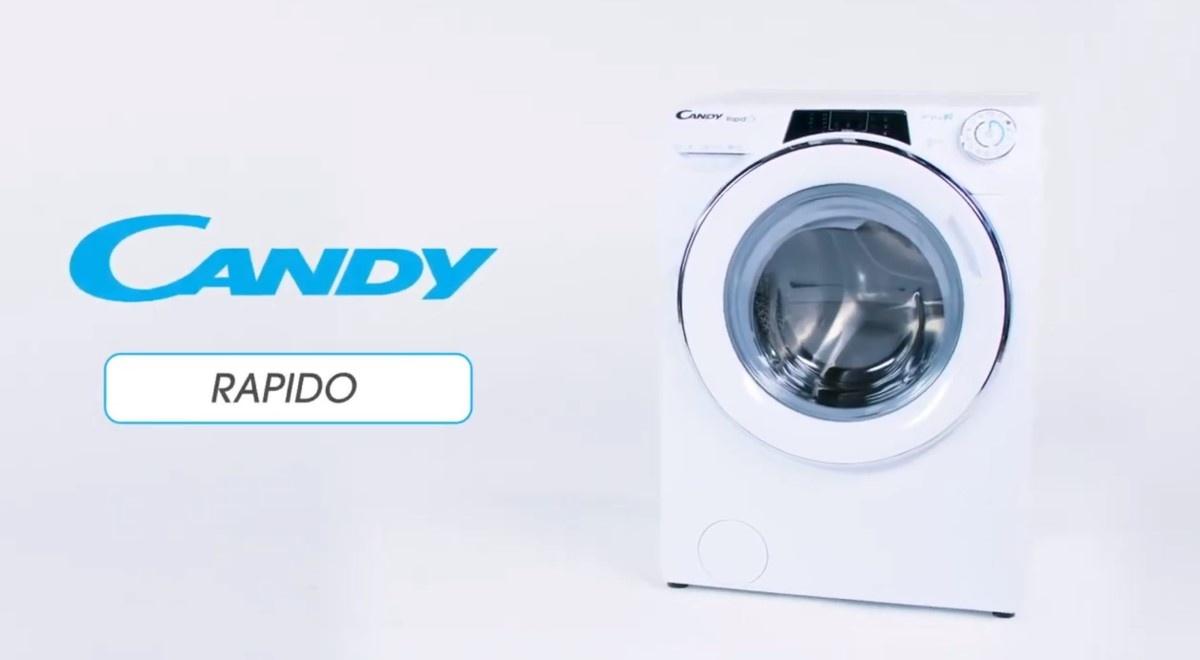 Pralka Candy RapidO koło napisu