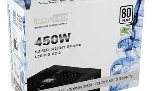 LC-Power ZASILACZ 450W LC6450 V2.2 80 PLUS 120mm 4x SATA 2x PATA 1x PCIe Active PFC Black
