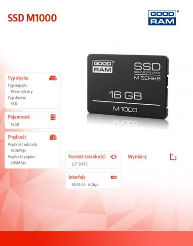 GoodRam SSD M1000 16GB SATA3 2,5