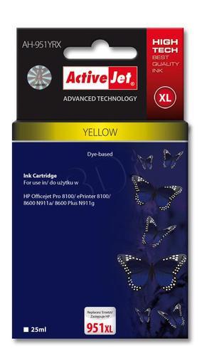 ActiveJet AH-951YRX tusz żółty do drukarki HP (zamiennik HP 951XL CN048AE) Premium