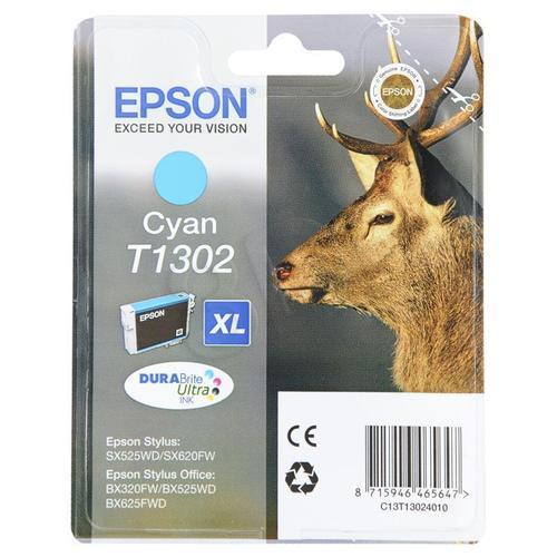 EPSON Tusz Niebieski T1302=C13T13024010, 10.1 ml