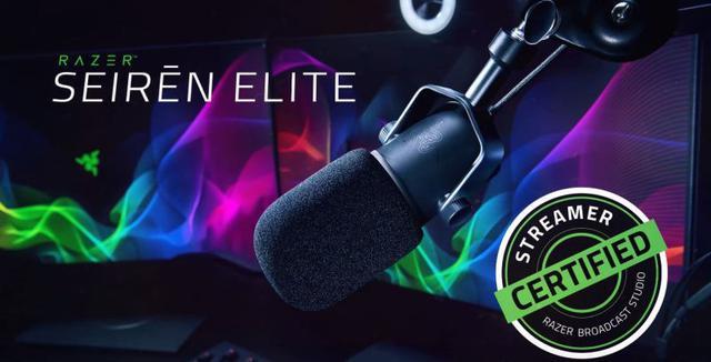 Razer Seiren Elite to ulepszona wersja profesjonalnego mikrofonu dla streamerów.