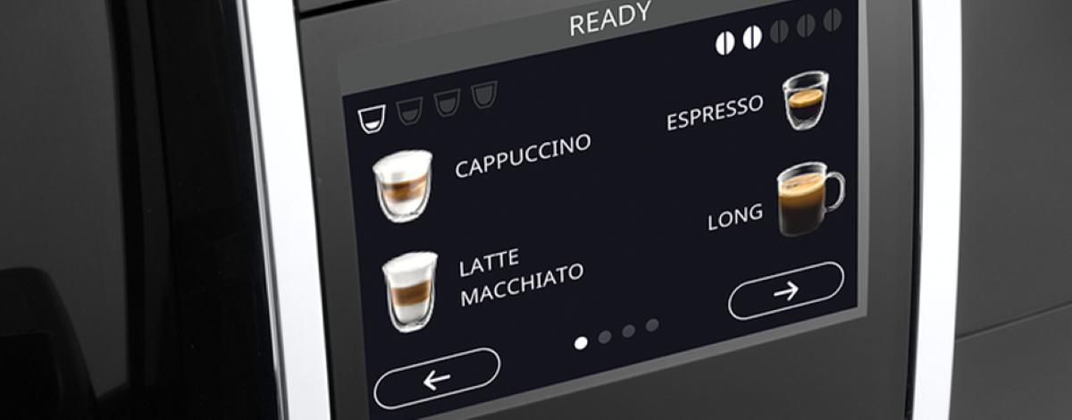 Przepisy na kawę w wyświetlaczu DeLonghi