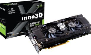 Inno3D GeForce GTX 1080 Ti Twin X2 11GB GDDR5X (352 bit), DVI-D, HDMI, 3x DP, BOX (N108T-1SDN-Q6MN)