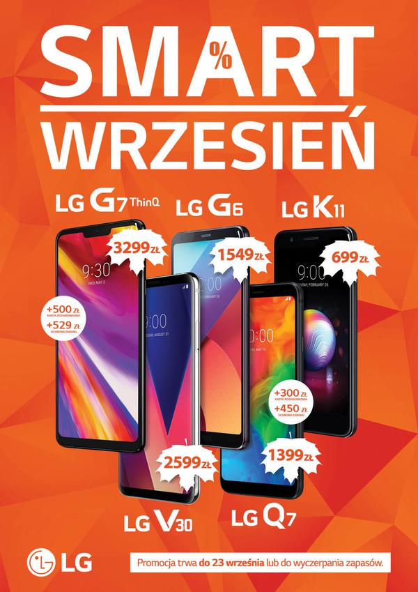 Promocja na smartfony LG