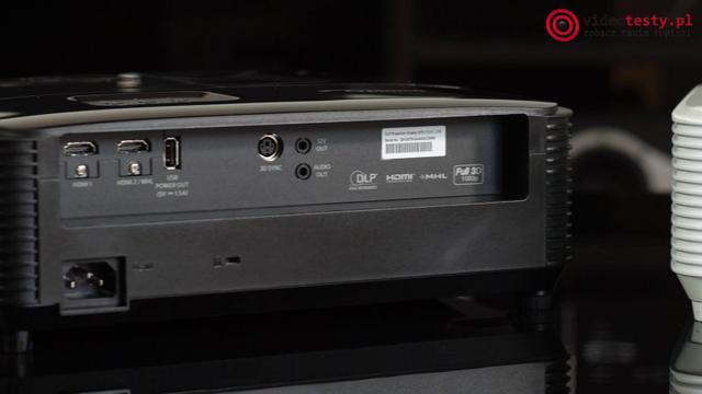 Optoma HD144X złącza