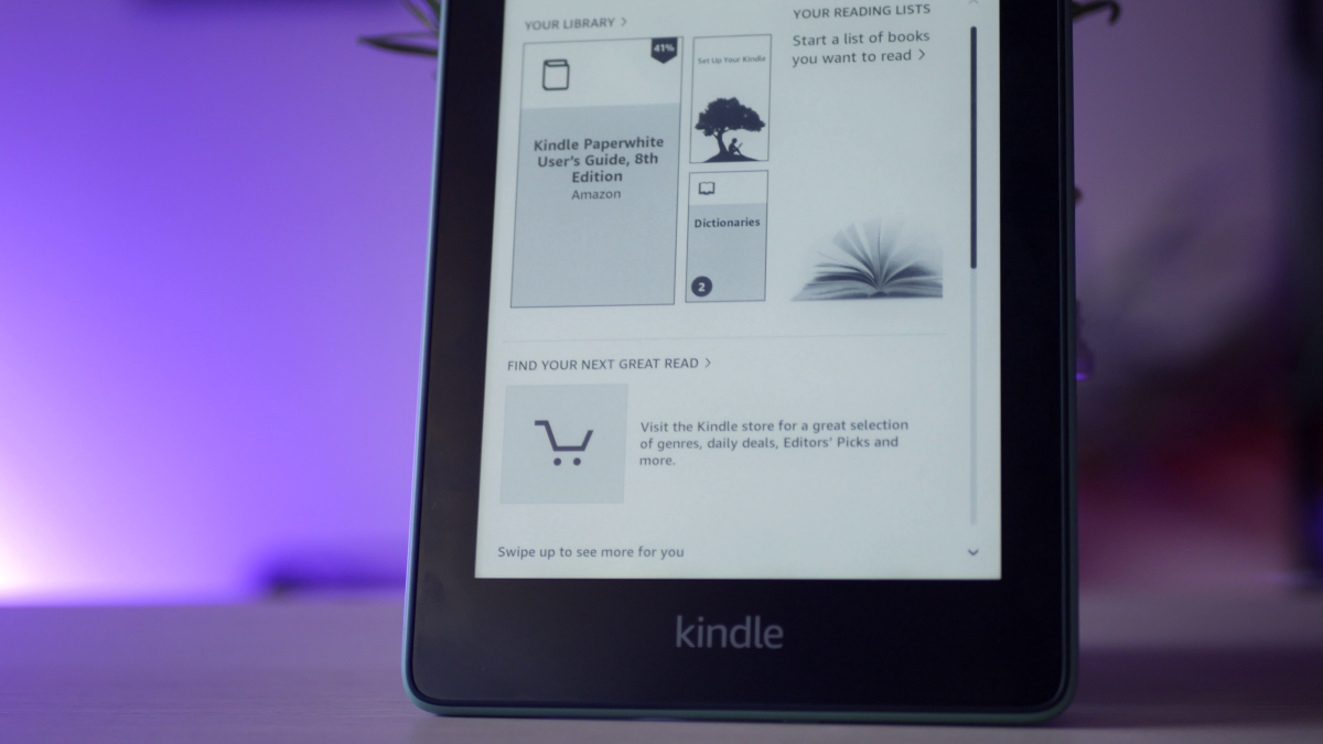 Ekran w Kindle Paperwhite 4