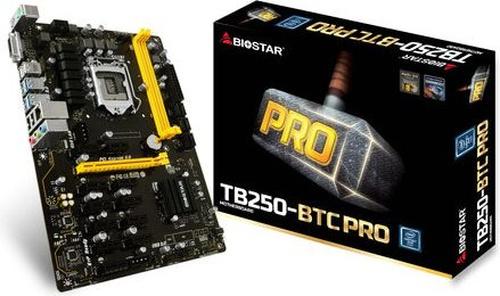 Biostar TB250-BTC PRO, B250, SATA3, DDR4, USB3.0, ATX