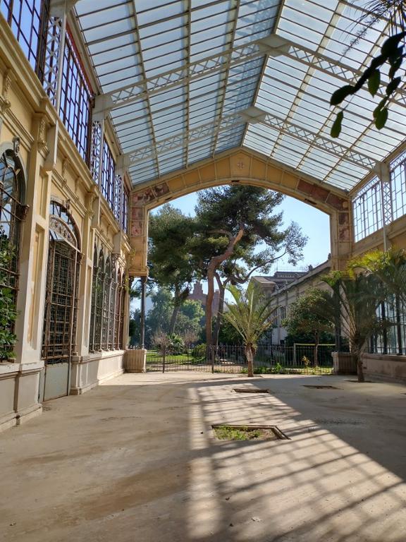 Tryb HDR w parku w Barcelonie