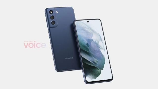 Wygląd Samsunga Galaxy S21 FE (Onleaks via Voice)