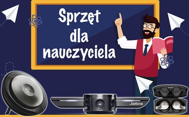 Zestaw (kamerka, głośnik, słuchawki) dla nauczyciela (#BackToSchool2020)