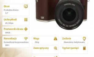 Samsung Smart NX300 brązowy + 18-55mm