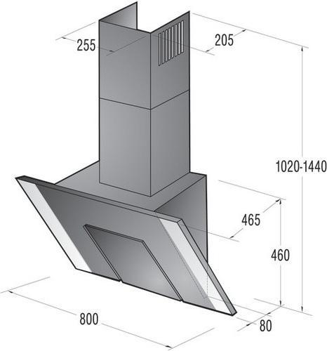 Gorenje Okap kominowy DVG8545E