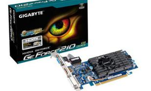 Gigabyte GeForce CUDA GF210 1GB DDR3 PCI-E 64BIT DVI/HDMI/D-SUB BOX