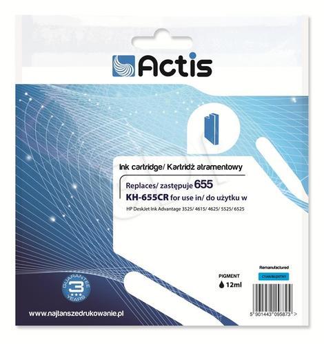 Actis KH-655CR tusz cyan do drukarki HP (zamiennik HP 655 CZ110AE) Standard