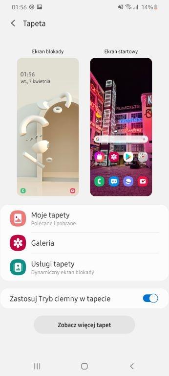 Poza tapetą zmienimy także motywy z poziomu Galaxy Store