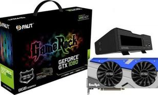 Palit GeForce GTX 1080 GameRock Premium 8GB GDDR5X (256 Bit) HDMI, DVI, 3xDP, BOX (NEB1080H15P2GP)