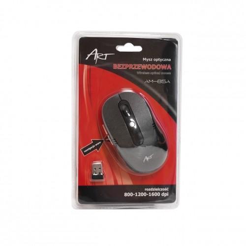 ART Mysz bezprzewodowo-optyczna AM-85A czarna