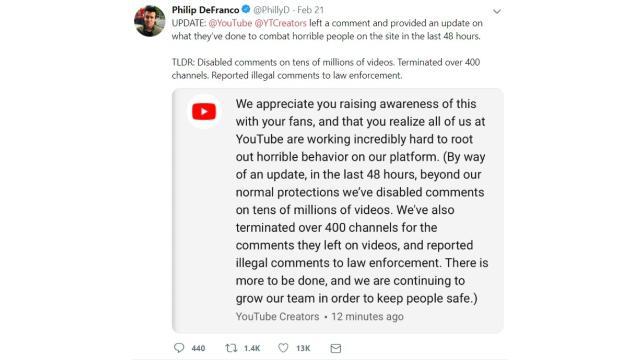 Youtube reaguje, ale i tak za późno