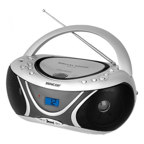 SENCOR Przenośny radioodtwarzacz CD odtwarza CD-R/RW, MP3, wejscie USB