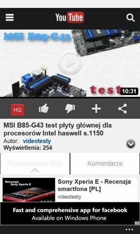 Windows Phone 8 youtube 3