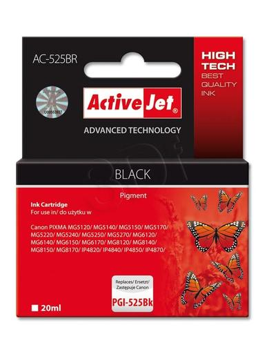 ActiveJet AC-525BR tusz czarny do drukarki Canon (zamiennik Canon PGI-525BK) Premium/ chip