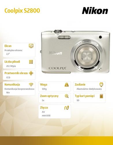 Nikon S2800 silver