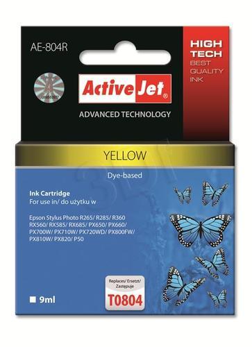 ActiveJet AE-804R tusz żółty do drukarki Epson (zamiennik Epson T0804) Premium