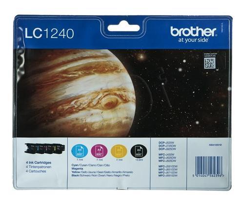 BROTHER Tusz LC1240VALBP=LC-1240VALBP, Zestaw CMYBk, LC1240C+LC1240M+LC1240Y+LC1240BK