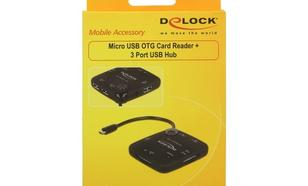 DELOCK Czytnik kart OTG Micro USB All-In-One + USB Hub