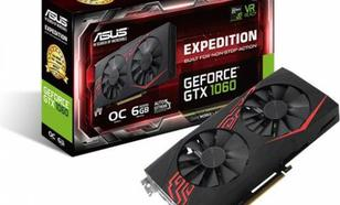 Asus GeForce GTX 1060 Expedition O6G 6GB GDDR5 (192 Bit) DVI-D, 2xHDMI, 2xDP, BOX (EX-GTX1060-O6G)