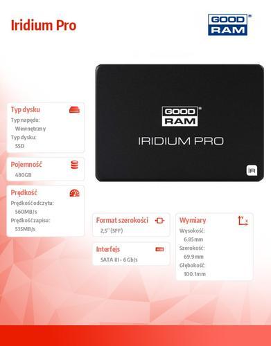 GoodRam Iridium Pro 480GB SATA3 2,5 560/535MB/s