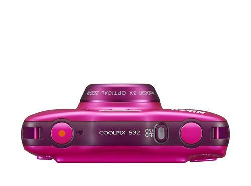 Nikon S32 pink + plecak