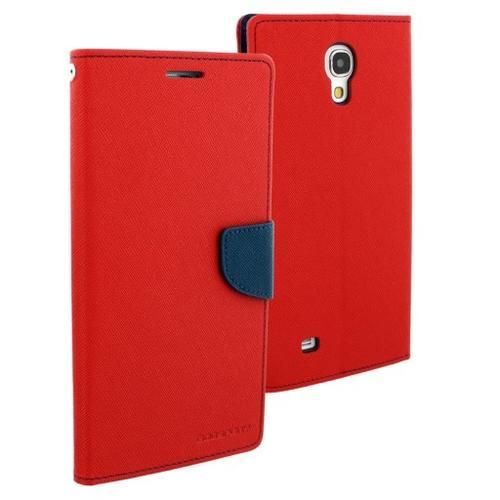 """WEL.COM Etui skórzane Fancy do Samsung Galaxy Tab 3 7"""", czerwono-granatowe"""