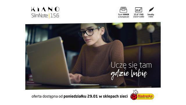 Smukły Laptop z Dużym Twardzielem - KIANO w Biedronce!