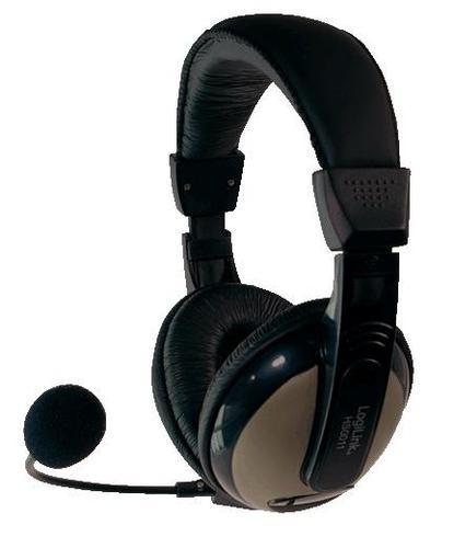 LogiLink Słuchawki stereo z mikrofonem - Comfort HS0011