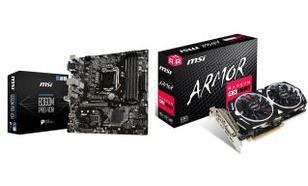 MSI B360M PRO-VDH + Radeon RX 570 ARMOR 8G OC