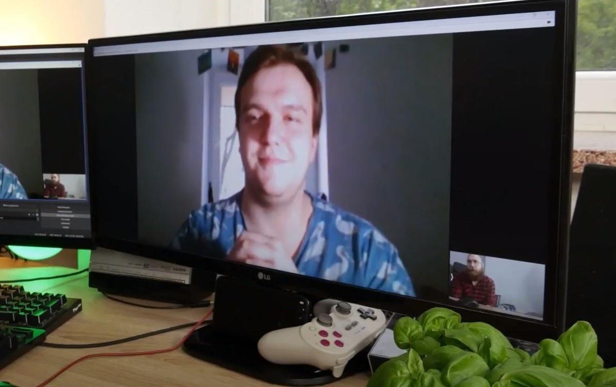 Wideokonferencja z wykorzystaniem kamerki z telefonu