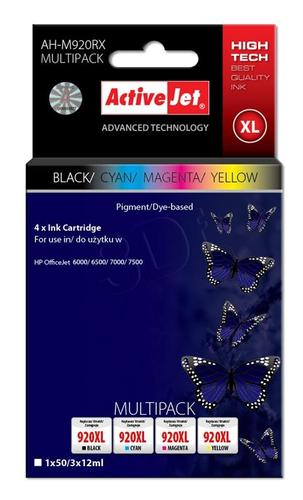 ActiveJet AH-M920RX multipack tusz czarny, cyan, magenta, żółty do drukarki HP (zamiennik HP 920XL C2N92AE) Premium