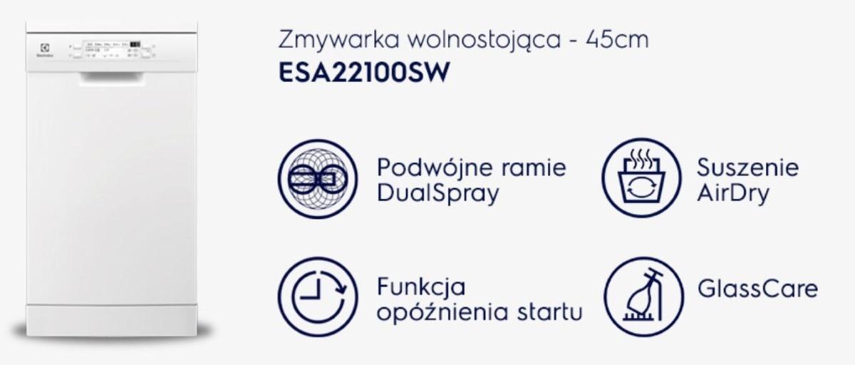 Zmywarka  Electrolux ESA22100SW i jej funkcje