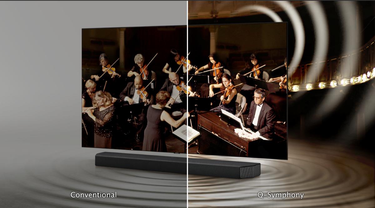 Funkcjonowanie Samsung Q-Symphony