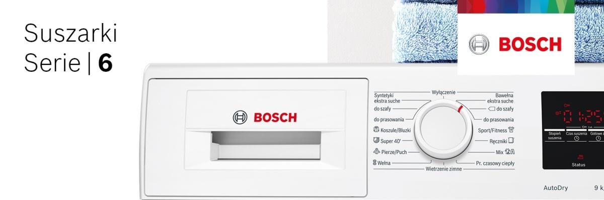 Suszarki Bosch Serie 6 to błyskawiczne i skuteczne suszenie