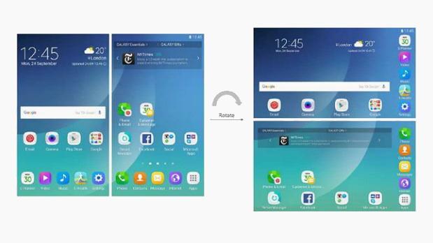 Samsung będzie skalował interfejs do większego ekranu