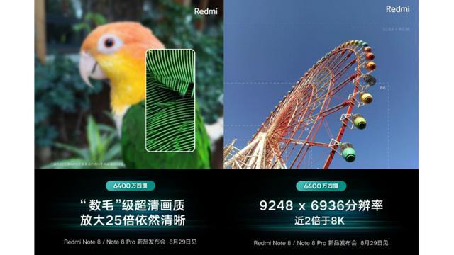 Redmi Note 8 otrzyma aparat 64 MPx, a wersja Pro - 25-krotny zoom
