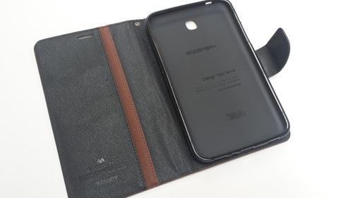 """WEL.COM Etui skórzane Fancy do Samsung Galaxy Tab 3 7"""" brązowo-czarne"""