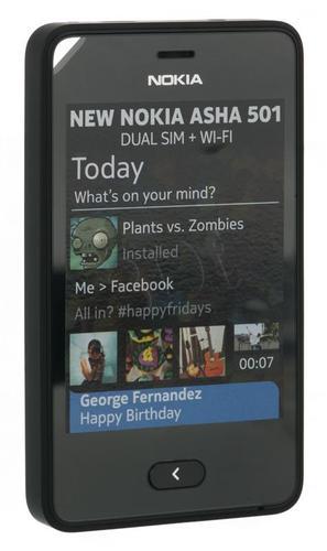 NOKIA ASHA 501 BLACK DUAL SIM