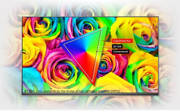 nasycone kolory na telewizorze LG 4K