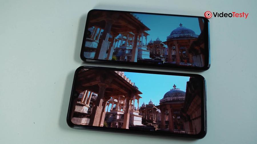 Porównanie ekranów pokazuje, że AMOLED w Xiaomi ma mniej problemów, niż P30 Lite